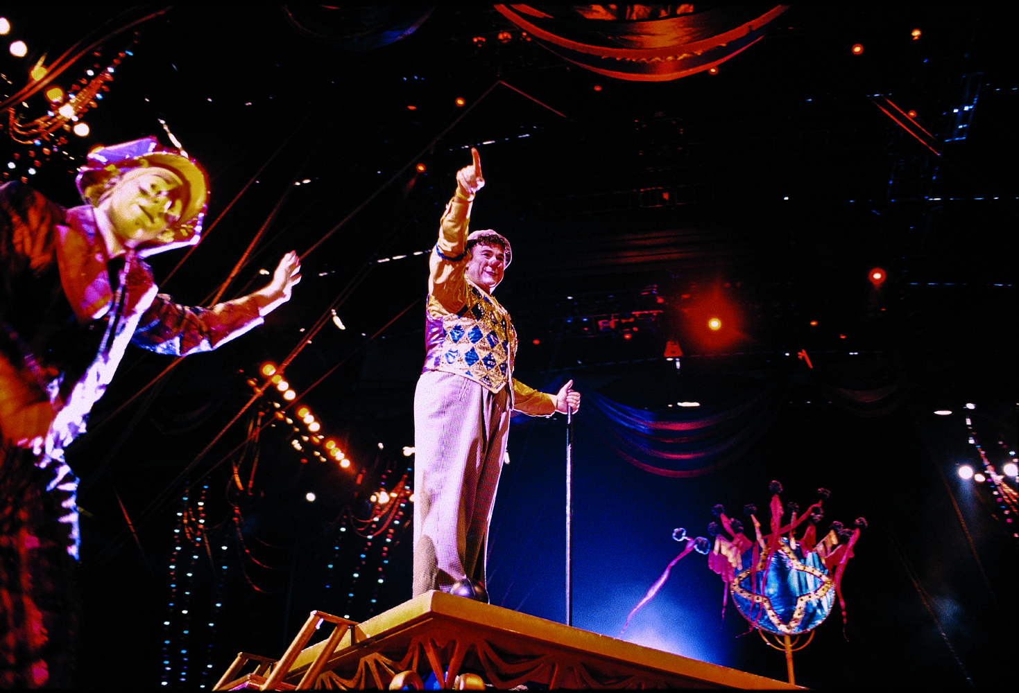 "August 2005, Houston-Texas: Italian Clown David Larible during his tournee in USA at Ringling Barnum & Bailey and Brothers Circus - from the book ""A Poet in Action"" © by Gianluigi Di Napoli"