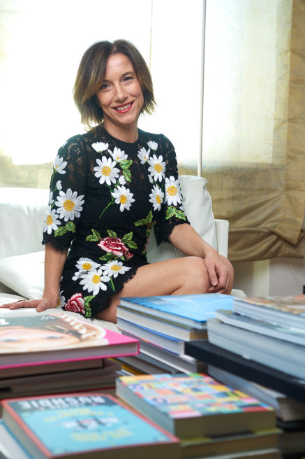 Milano, 27 aprile 2016: Silvia Grilli, Direttore di Grazia Magazine fotografata nella sua casa