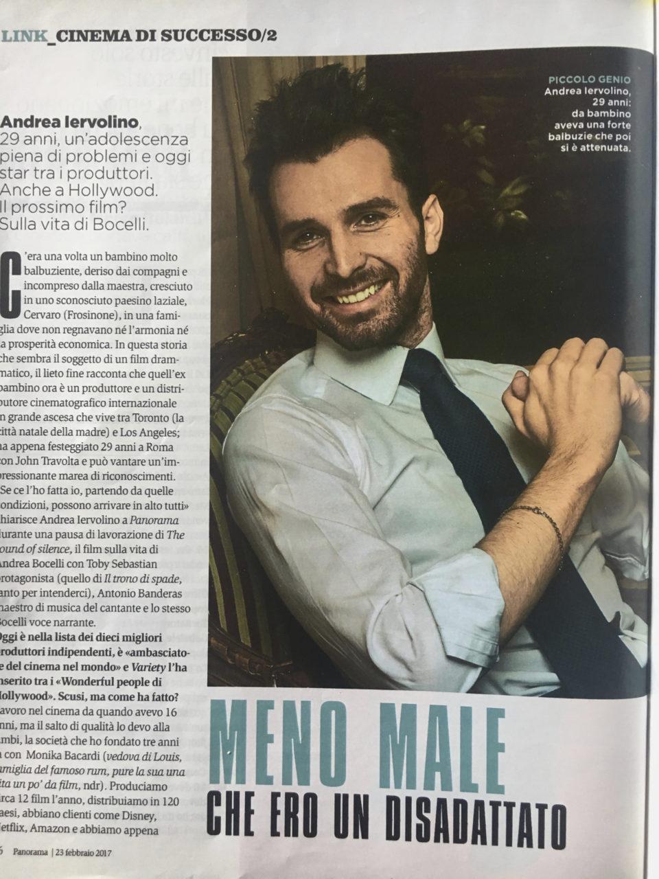 Andrea Iervolino, uno dei dieci produttori più importanti di Hollywood, ritratto da Gianluigi Di Napoli per Panorama Magazine